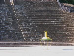 La lanterne au théatre romain